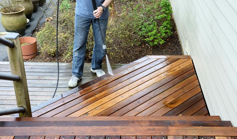 washing deck